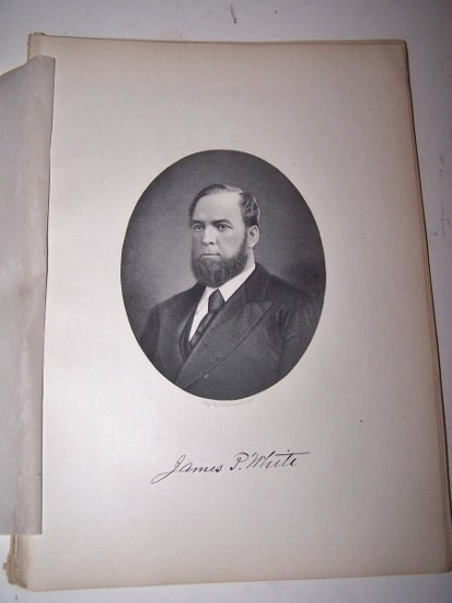 Image for JAMES P. WHITE  [Steel Engraved Portrait]