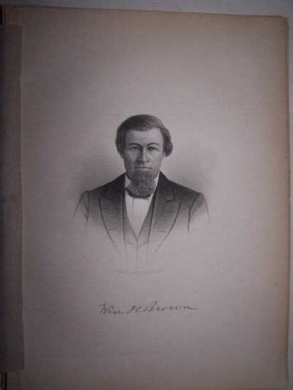 Image for WILLIAM H. BROWN  [Steel Engraved Portrait]