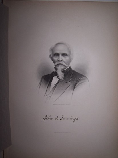 Image for JOHN F. JENNINGS  [Steel Engraved Portrait]