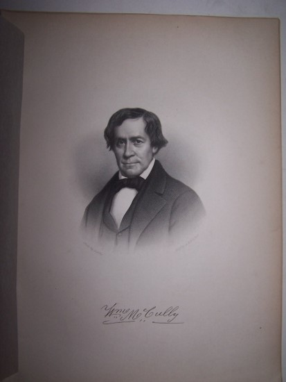 Image for WILLIAM McCULLY  [Steel Engraved Portrait]