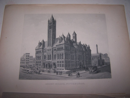 Image for COURT HOUSE, PITTSBURGH  [Steel Engraving]