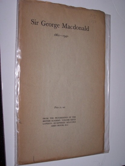 Image for SIR GEORGE MACDONALD