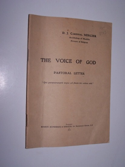 THE VOICE OF GOD - Pastoral Letter