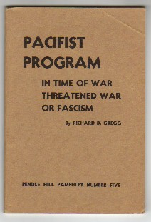 PACIFIST PROGRAM In Time of War, Threatened War, or Fascism