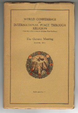 Image for WORLD CONFERENCE FOR INTERNATIONAL PEACE THROUGH RELIGION