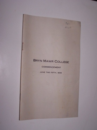 Image for BRYN MAWR COLLEGE COMMENCEMENT 1935
