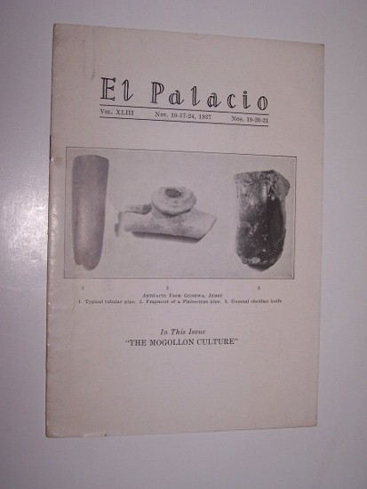 Image for EL PALACIO - Nos. 19, 20, 21 -- The Mogollon Culture