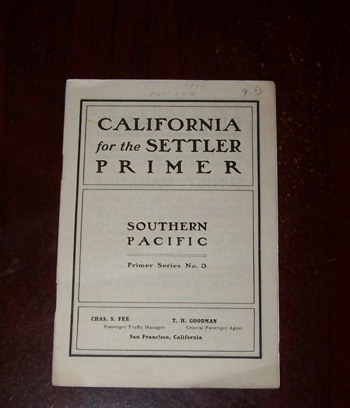 Image for CALIFORNIA FOR THE SETTLER PRIMER