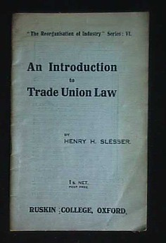 Image for AN INTRODUCTION TO TRADE UNION LAW