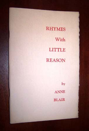 Image for RHYMES WITH LITTLE REASON