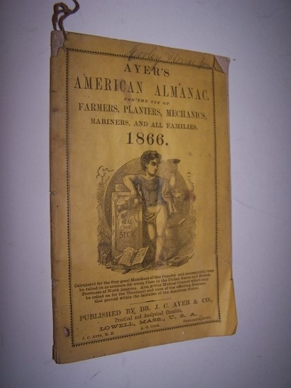 Image for AYER'S AMERICAN ALMANAC  for the use of Farmers, Planters, Mechanics, Mariners, and all Families - 1866