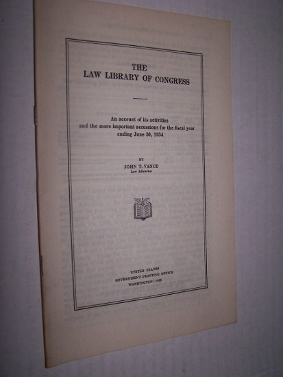 Image for THE LAW LIBRARY OF CONGRESS  An account of its activities and the more important accessions for the fiscal year ending June 30, 1937