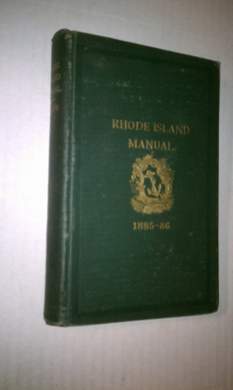Image for Manual with Rules and Orders for the Use of the General Assembly of the State of Rhode Island, 1885-86