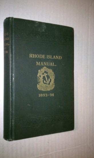 Image for Manual with Rules and Orders for the Use of the General Assembly of the State of Rhode Island, 1893-94