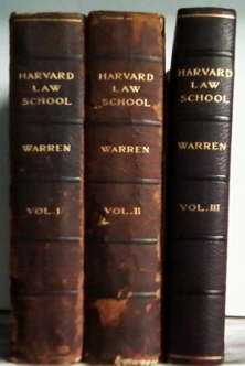 Image for HISTORY OF THE HARVARD LAW SCHOOL AND OF EARLY LEGAL CONDITIONS in three volumes