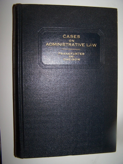 Image for CASES AND MATERIALS ON ADMINISTRATIVE LAW