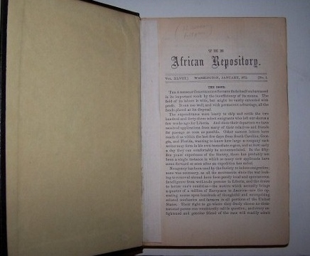 Image for The African Repository for 1872 - Vol. XLVIII, Nos. 1 thru 12 [12 issues complete]