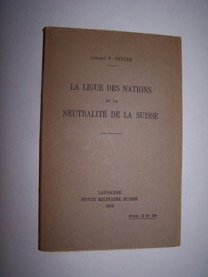 Image for La Ligue de Nations et la Neutralite de la Suisse
