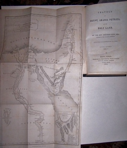 Image for TRAVELS IN EGYPT, ARABIA PETREA, AND THE HOLY LAND w/ folding map Volume 1
