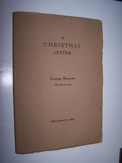 Image for A CHRISTMAS LETTER -  George Borrow: Redivivous