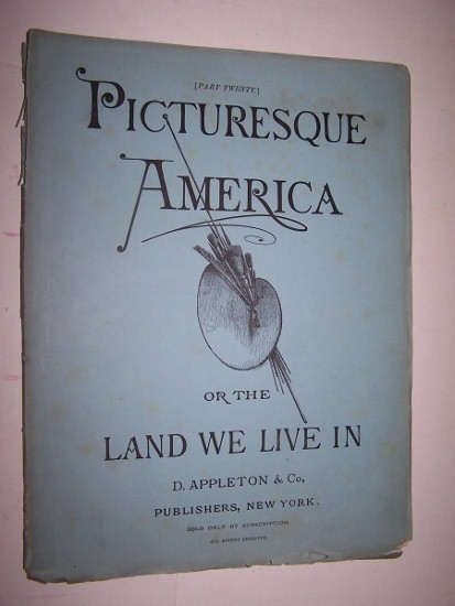 Image for PICTURESQUE AMERICA, OR THE LAND WE LIVE IN - Part 20 with Steel Engraving of Mouth of the Moodna on the Hudson