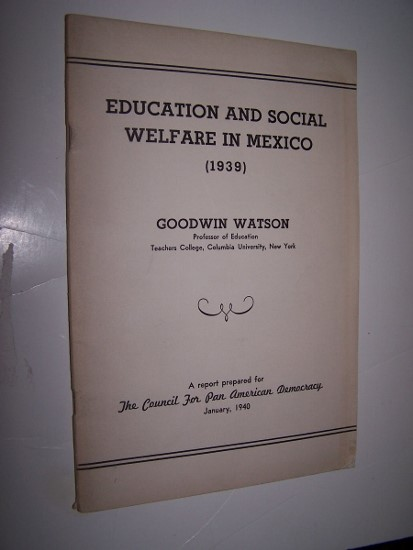 Image for EDUCATION AND SOCIAL WELFARE IN MEXICO  (1939)