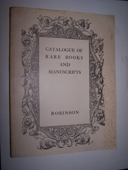 Image for RARE BOOKS AND MANUSCRIPTS Catalogue 69