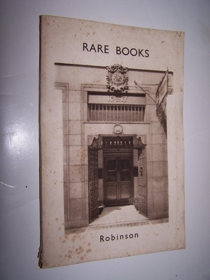 Image for RARE BOOKS Offerred for Sale Catalogue 56