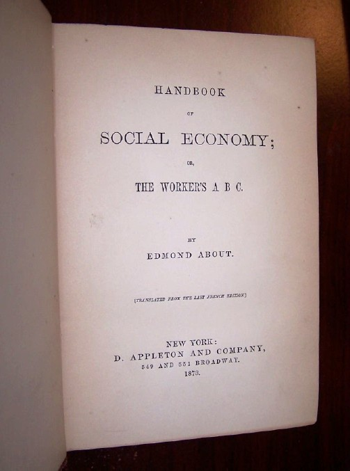 Image for Hand-Book of SOCIAL ECONOMY or The WORKER'S A B C