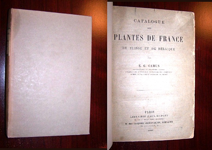 Image for CATALOGUE DES PLANTES DE FRANCE, de Suisse et de Belgique