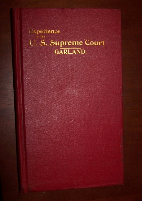 Image for EXPERIENCE IN THE SUPREME COURT OF THE UNITED STATES   With Some Reflections and Suggestions as to that Tribunal