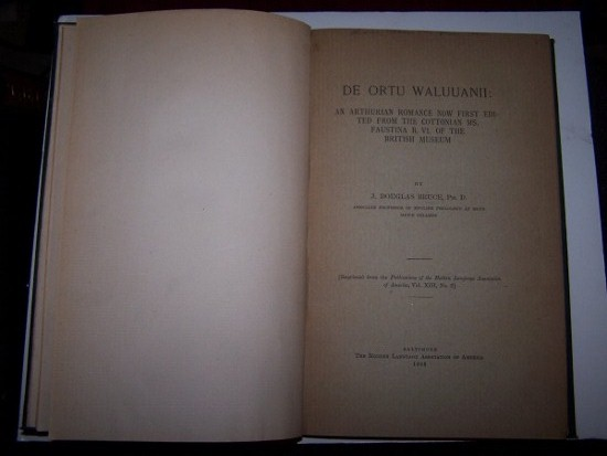 Image for De Ortu Waluuanii. An Arthurian romance [& Vita Meriadoci: An Arthurian Romance now first edited...] now first edited from the Cottonian MS. Faustina B. VI. of the British Museum