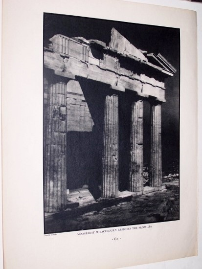 Image for Moonlight Miraculously Restores the Propylaea [ Halftone Photographic Print ]