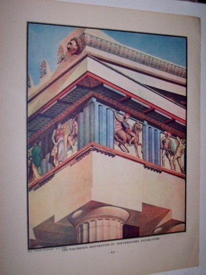 Image for The Parthenon: Restoration of Northwestern Entablature [Polychrome Print]