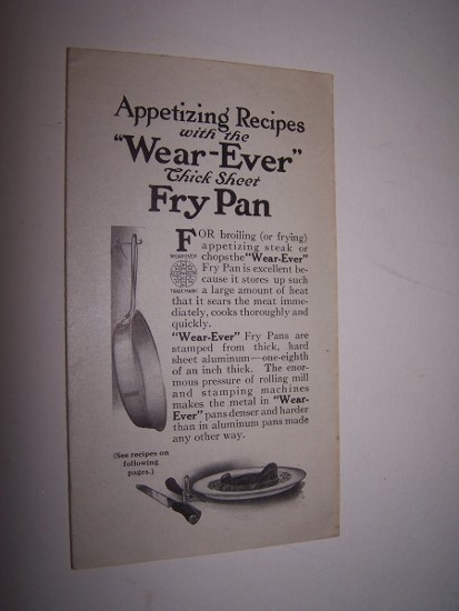 Image for Appetizing Recipes with the Wear-Ever Thick Sheet Fry Pan