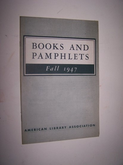 Image for Books and Pamphlets Fall 1947