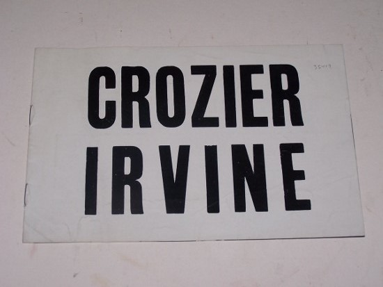 Image for CROZIER IRVINE [Exhibition catalogue: William Crozier & William Irvine]