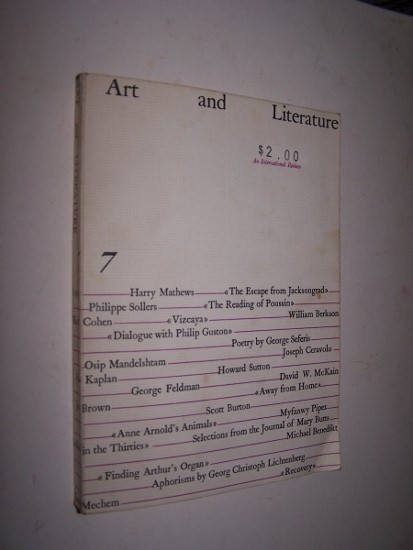 Image for ART AND LITERATURE  An International Review   No. 7 (Winter 1965)