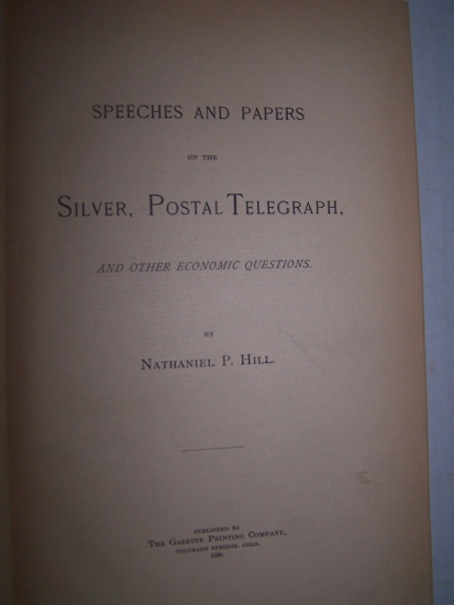 Image for SPEECHES AND PAPERS ON THE SILVER, POSTAL TELEGRAPH AND OTHER ECONOMIC QUESTIONS