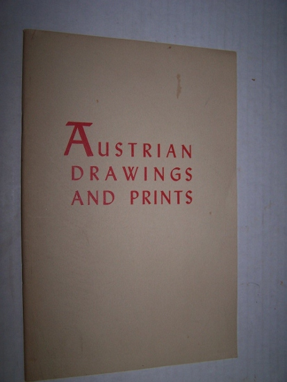 Image for AUSTRIAN DRAWINGS AND PRINTS FROM THE ALBERTINA, VIENNA