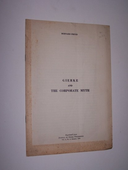 Image for Gierke and the Corporate Myth