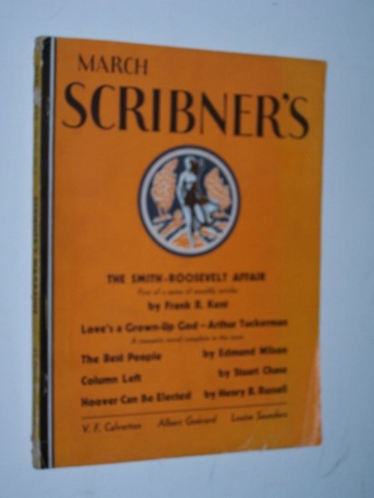 "Image for March Scribner's - Scribner's Magazine: March 1932. Vol. XCI, Number 3 ""The Best People"" by Edmund Wilson"