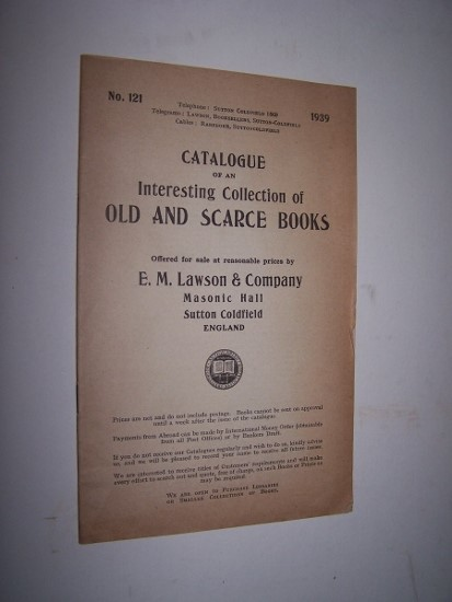 Image for Catalogue of An Interesting Collection of Old and Scarce Books - Catalogue 121