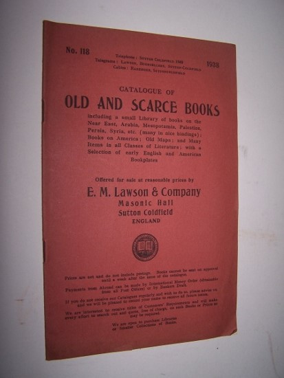 Image for Catalogue of Old and Scarce Books - Catalogue 118