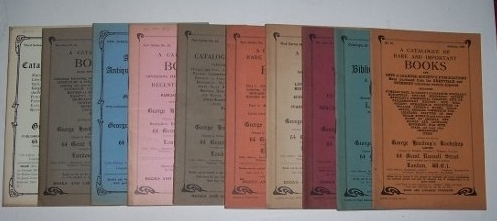 Image for A CATALOGUE OF BOOKS ...  -- A lot of ten bookseller catalogues including Catalogues 32, 38, 39, 40, 44, 45, 46, 47, 51, and 52