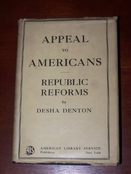 Image for APPEAL TO AMERICANS  Republic Reforms [in original dustjacket ]