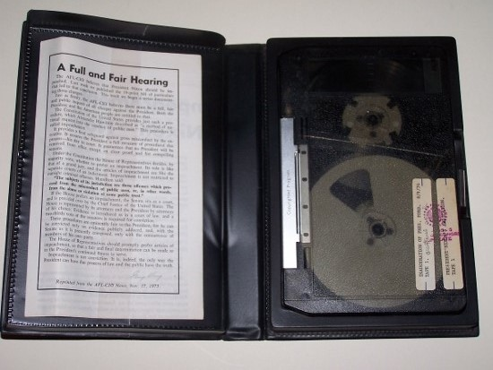 Image for The Case for Impeachment of Richard M. Nixon - Now [Broadsheet with old video cassette in plastic case]