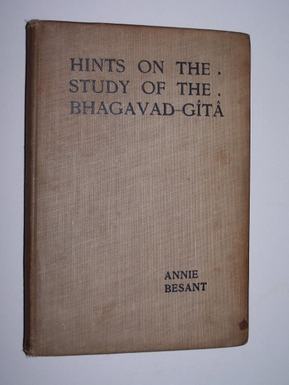 Image for Hints on the Study of the Bhagavad-Gita  Four lectures delivered at the Thirtieth anniversary meeting of the Theosophical Society at Adyar, Madras, December 1905