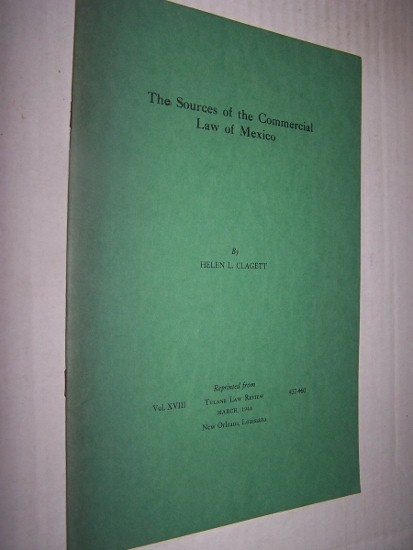 Image for The Sources of Commercial Law of Mexico