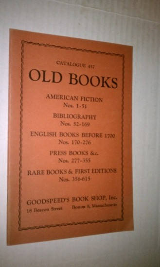 Image for OLD BOOKS - Catalogue 457